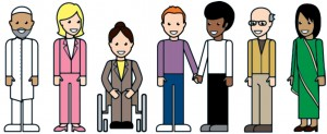 Equality Act easy read illustration