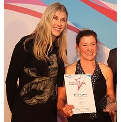 Kelda Wood with Sharon Davies