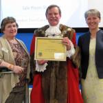 Ruby, Cllr Miles Kenny & Ann Shaw winner of Community Category