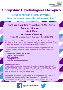 Shropshire Psychological Therapioes 10 March 2020