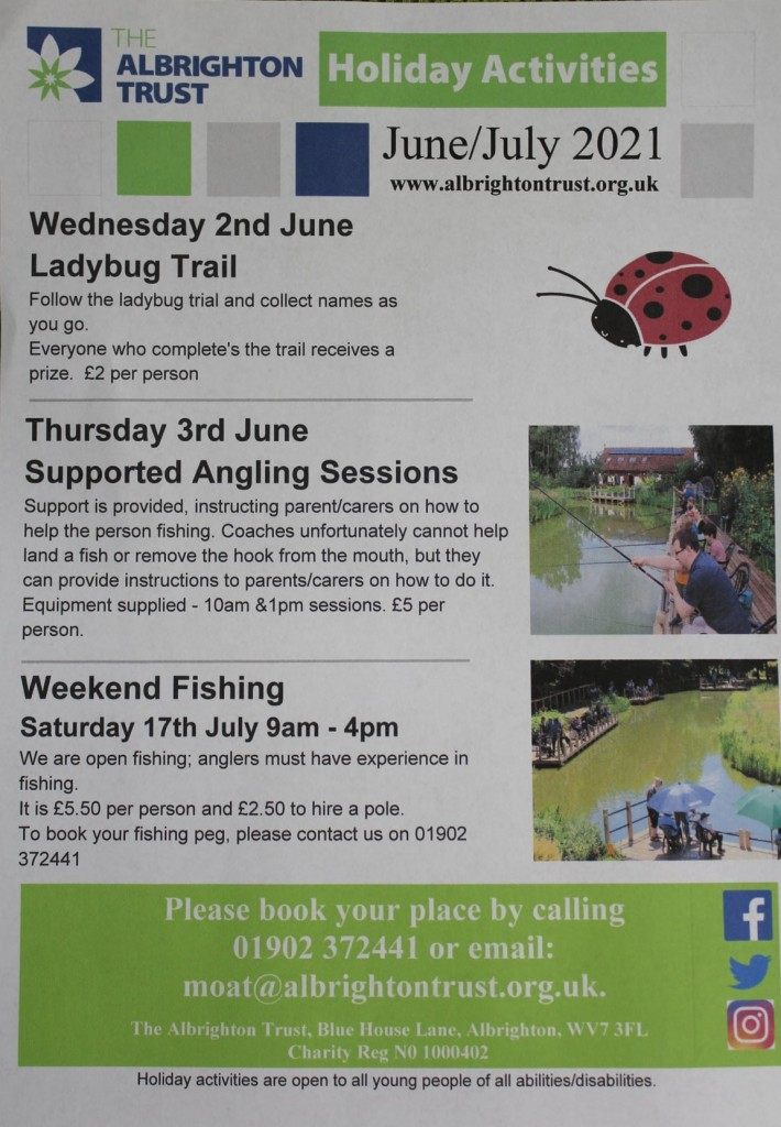 Albrighton Trust June, July 2021