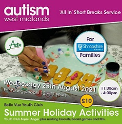 Summer Holiday Activities For Shropshire Youngsters (Autism)